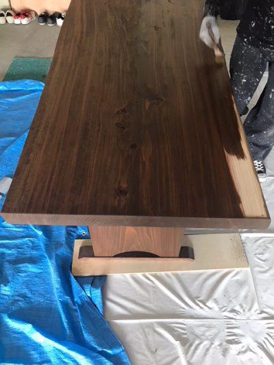 クリエイティブカラー株式会社_新潟市西区テーブル塗装写真